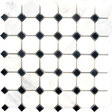 great black and white mosaic floor tile 28 for furniture design