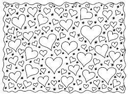 coloring love hearts 6