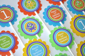 Monster Inc Decorations 12 Monster Birthday Cupcake Toppers Monsters Aliens