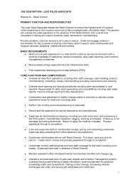 Sanitation Worker Job Description Resume Resume Job Description For Sales Associate Free Resume Example