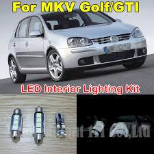 Mkv Gti Interior 12x Cold White Error Free Light Canbus Lamp For Volkswagen Vw Golf