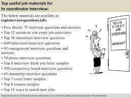 Sample Hr Coordinator Resume by Hr Coordinator Interview Questions