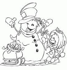 christmas snowman coloring pages jul x mas pinterest
