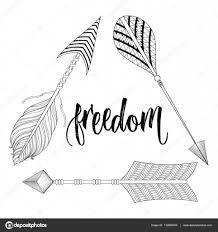 boho chic ethnic triangle dreamcatcher with arrows freedom
