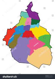 Mexico City Mexico Map by Distrito Federal Map Mexico City Stock Vector 50519038 Shutterstock