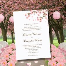 make your own wedding fan programs cherry blossom printable wedding invitations editable word doc