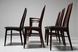 Dining Chairs Vintage Niels Koefoed Rosewood U0027eva U0027 Dining Chairs