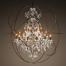 Rustic Candle Chandeliers Orb Light Chandelier Modern Vintage Lighting Rustic Candle