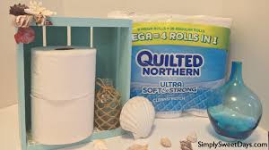 diy bathroom organizer and toilet paper holder simply sweet days