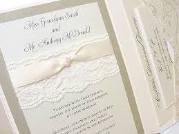 vintage lace wedding invitations lace and gliitter wedding invites