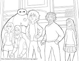 disney u0027s big hero 6big hero 6 team coloring page big hero 6
