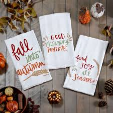 fall tea towels set of 3 kirklands
