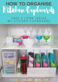 how to organise kitchen cabinets the organised housewife