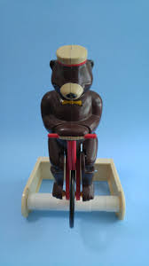 bear on bicycle toilet paper holder collectors weekly