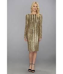 gold badgley mischka allover sequin cocktail dress screen dresscab