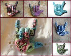 make a sign language ornament crafts