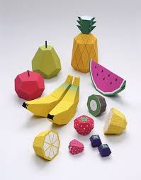 Paper Crafts - paper crafts free foldable fruit printables craft free