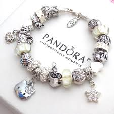 bracelet with charms images Authentic pandora silver bracelet with charms white hello kitty jpg