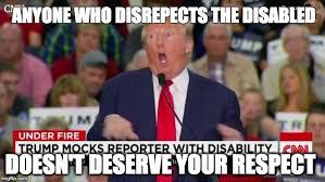 Disability Memes - trump mocking disabled meme generator imgflip