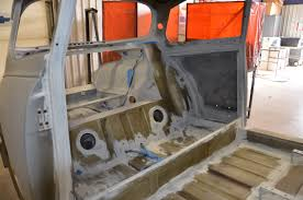 interior work trunk and body restoration of dave u0027s 1968 saab 96