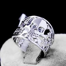 buy skull rings images Genuine 925 sterling silver anillos joyas de plata skull rings jpg