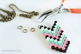 make beads necklace images Chevron perler bead necklaces jpg