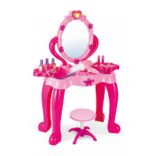 Childrens Play Vanity Light U0026 Music Childrens Dressing Up Hair Mirror Make Up Stool