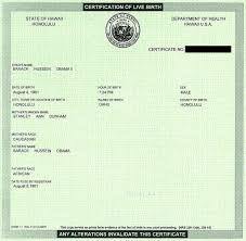 Certification Letter For Name Change Barack Obama Birth Certificate