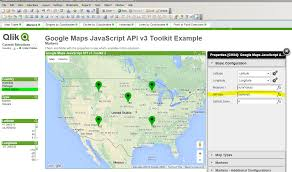 Google Map United States by Working Qlikview Maps Extension Example Michael Ellerbeck