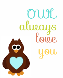 no time to be bored owl always love you free printable poster