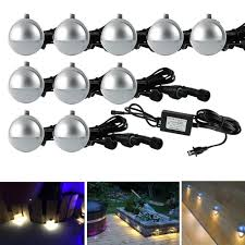 Landscape Lighting Sets Low Voltage by Pack Of 10 Low Voltage Led Deck Light Kit φ1 38