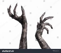 terrible zombie hands dirty hands mummy stock photo 226861564