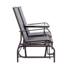 patio rocking chairs metal amazon com outsunny 2 person outdoor mesh fabric patio double