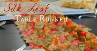 Leaf Table Runner Cook And Craft Me Crazy Silk Leaf Table Runner