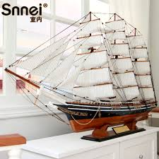 buy snnei large solid wooden sailing simulation model assembled