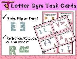 geometry task cards slide flip turn translation reflection