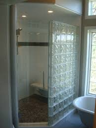 glass block bathroom designs modern bathroom with radius glass block wall from design to
