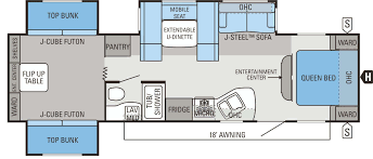 prowler travel trailer floor plan best house bunkhouse rv plans