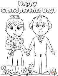 happy grandparents day coloring page free printable coloring pages