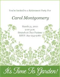 retirement party invitation template party invitations templates