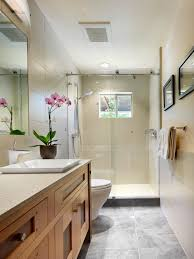 contemporary bathroom with craftsman style vanity a gorgeous
