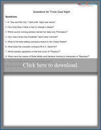 printable fun trivia questions lovetoknow