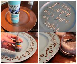 diy decorated charger plate crafts google search charger plate