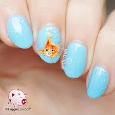 piggieluv goldfish nail art