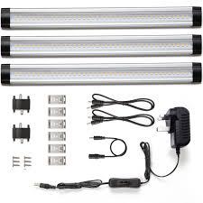 240v under cabinet lighting 900lm dimmable led under cabinet light bar 3 panel deluxe kit le