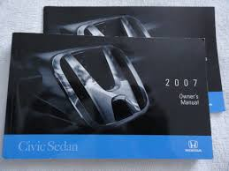 2007 honda civic sedan owners manual honda amazon com books