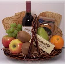 wine gift basket delivery fruit and wine gift basket local delivery only accents et cetera