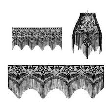 Lace Valance Curtains Skulls And Bats Lace Valance Curtains From Sininlinen