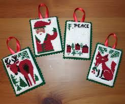 finished cross stitch ornaments rabbit crafts