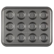 Toaster Oven Muffins Kitchenaid Toaster Oven Bakeware Nonstick 12 Cup Mini Muffin Pan Gray